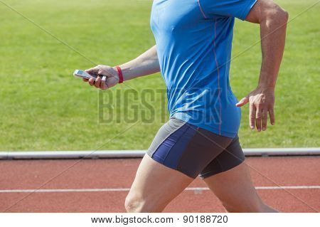 Runner Checking Fitness Data