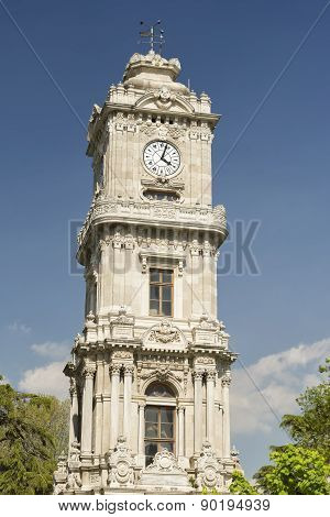 Dolmabahce Clock Tower, Istanbul, Turkey