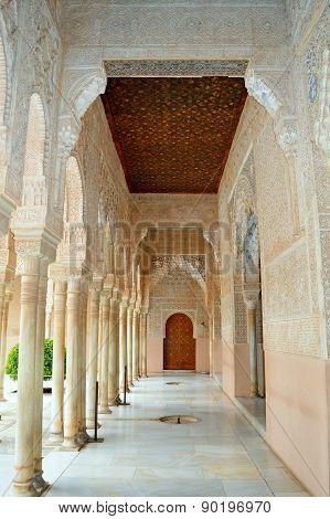 Spain Granada Alhambra Generalife Court of the Lions (3)
