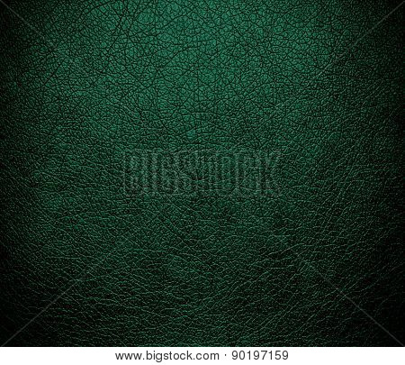 Castleton green color leather texture background