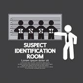 Suspect Identification Room Vector Illustration. EPS 10 poster