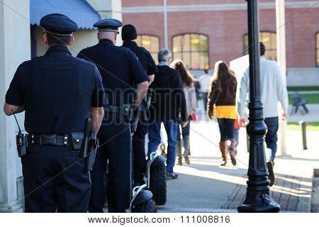 Police Officers Riding Segways at NAMI Walk