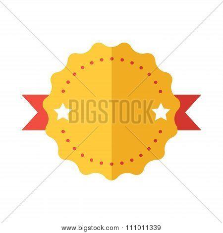 Modern flat design badge icon