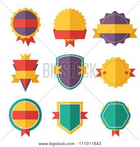 Modern flat design badges collection