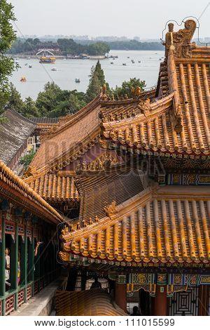 Beijing, China - Circa September 2015: Cloud Dispelling Hall, Summer Palace,  Beijing