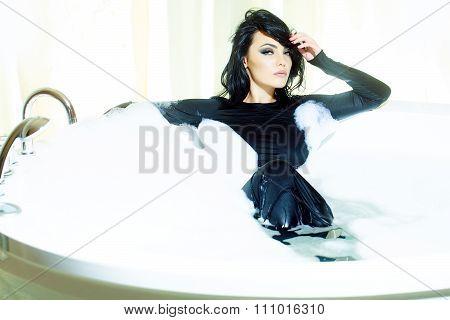 Wet Woman In Bath