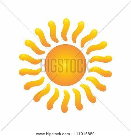 Abstract Sun isolated summer logo vector illustration