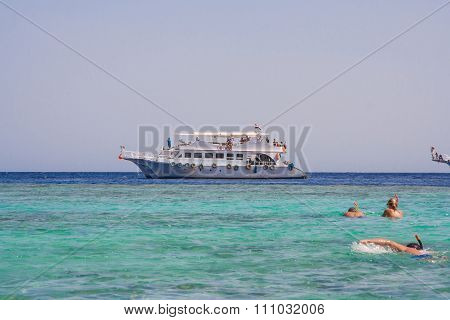 Tourist Cruise Boat In Egypt.