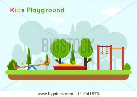 Playground vector background