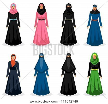 Middle eastern woman vector