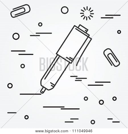 Ball Pen Isolated Icon.ball Pen Isolated Icon Vector. Ball Pen Isolated Icon Drawing. Ball Pen Isola