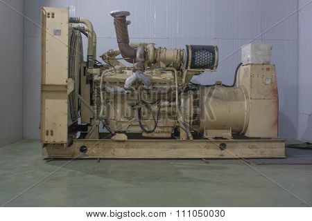 big diesel electric factory food fuel generator gmp industry machine poster