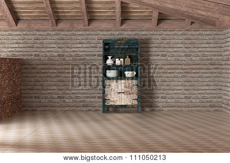 Sideboard In Empty House