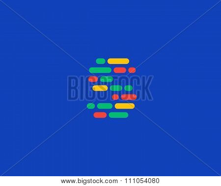 Abstract letter S logo.  Dynamic code vector unusual font.