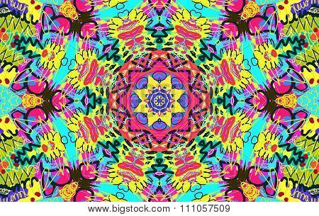 Bright Multi-colored Untidy Pattern