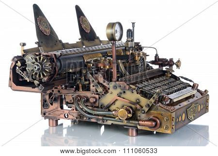 Steampunk The Typewriter.