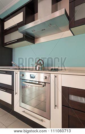 Interior Of A Specious Modern Kitchen