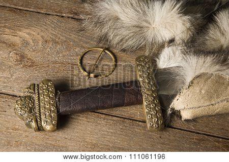 Viking Sword On A Fur