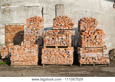 Stacks Of Bricks