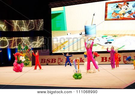 Minsk, Belarus December 05: Unidentified Gymnast From ' Shults' Participate With 'the Bo