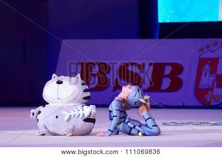 Minsk, Belarus December 05: Lesina Darya From 'sc Mowgli' Participate With 'murlyandiya&