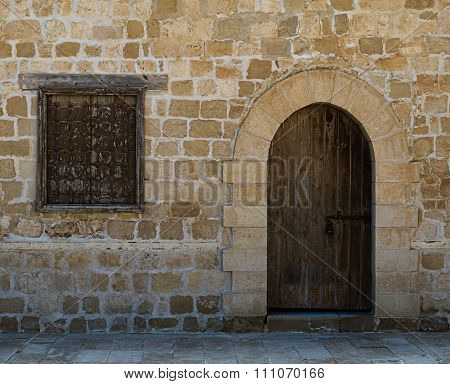 Door And Window Of One Of The Rooms Surrounding The Main Yard Of The Citadel Of Alexandria, Egypt