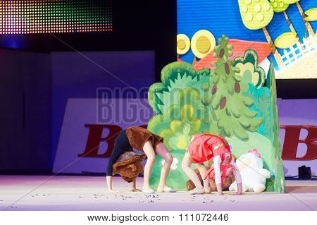 Minsk, Belarus December 05: Unidentified Gymnast From ' Smolevichy' Participate With 'ma