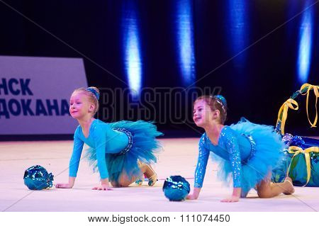 Minsk, Belarus December 05: Unidentified Gymnast From ' Smolevichy' Participate With 'na