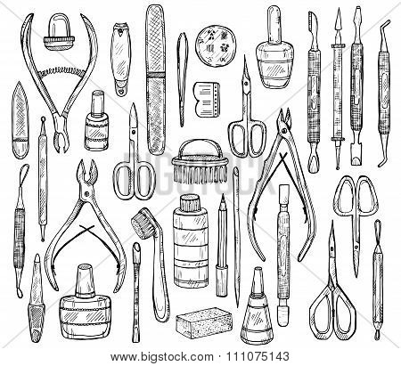 Set Of Manicure Equipment