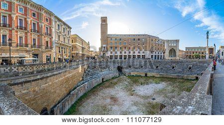Roman Amphitheatre In Lecce, Italy.