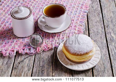 Donut In Powdered Sugar