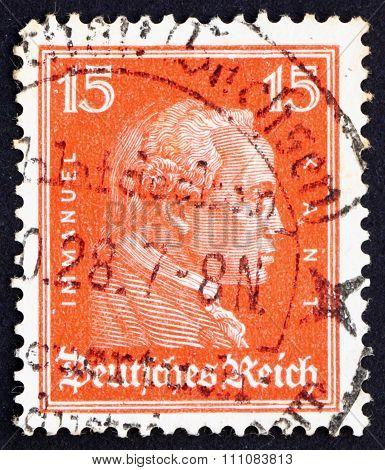 Postage Stamp Germany 1926 Immanuel Kant, Philosopher