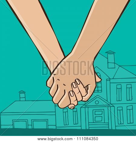 Couple Go From House