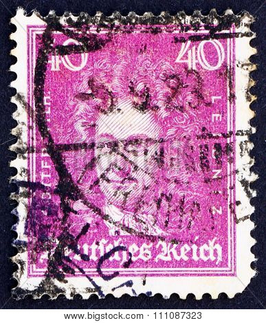 Postage Stamp Germany 1926 Gottfried Wilhelm Leibniz