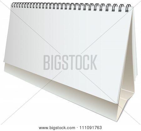 vector blank desktop calendar