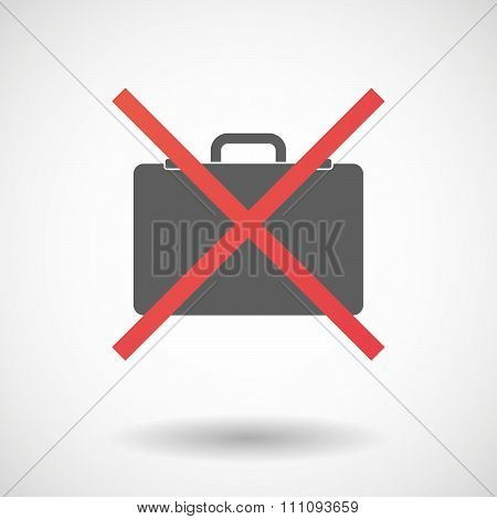 Not Allowed Icon With  A Breiefcase