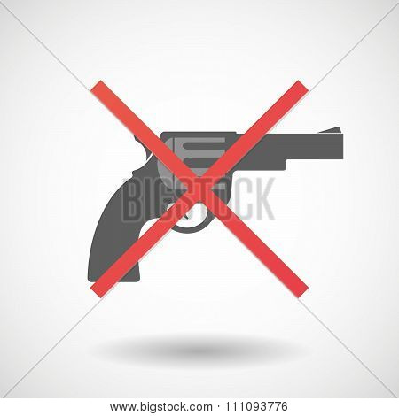 Not Allowed Icon With A Gun