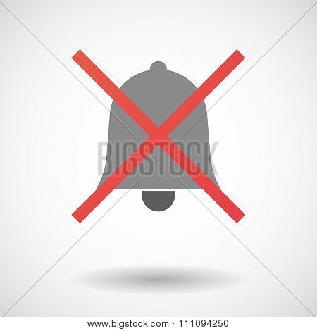 Not Allowed Icon With A Bell