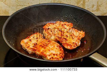 Frying Pork