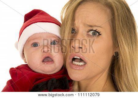 Woman And Santa Baby Upset