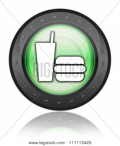 Icon, Button, Pictogram Fast Food