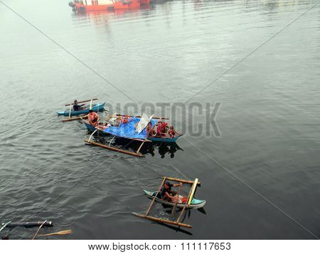 Outrigger Canoes in the Philippines
