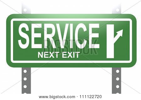 Service Green Sign Board Isolated