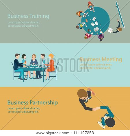 Infographic Of Business Meeting Design.
