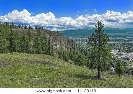 Kelowna Bc Canada From Knox Mountain