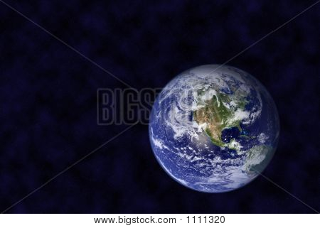 earth in space thousands small stars in background no infringement poster
