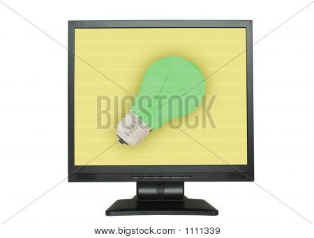 Idea Concept On The Lcd Screen