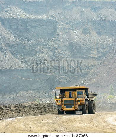 Modern Truck At Work In A Quarry