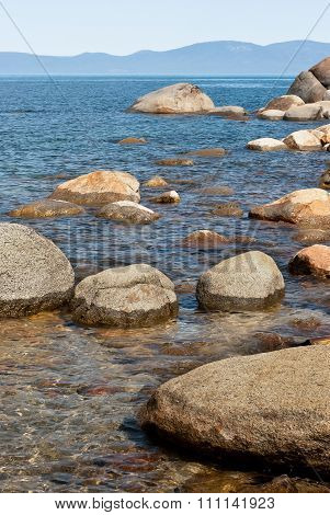 Stones In The Water At Lake Tahoe
