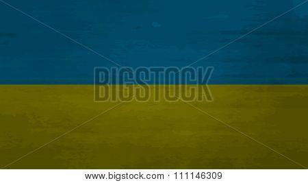 Grunge Messy Flag Ukraine